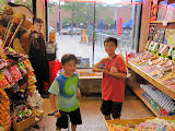 Eidan and Kai inside Rocket Fizz