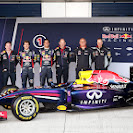 Red Bull Racing RB10 with Sebastian Vettel & Daniel Ricciardo  and Technical staff
