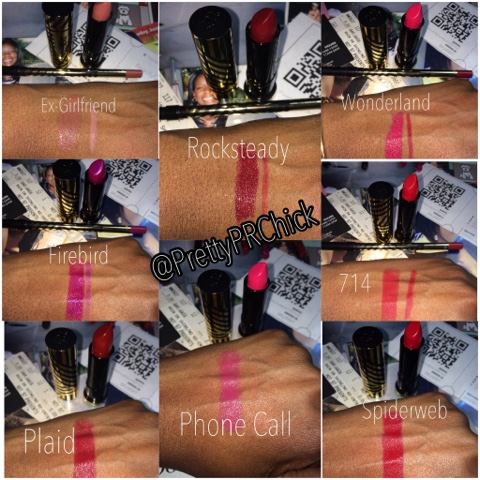 Urban Decay Gwen Stefani Swatches Lipstick & Lip liners