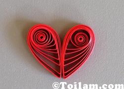 cach lam, handmade,hoa giấy, trang trí . dễ thương, trái tim, giấy,