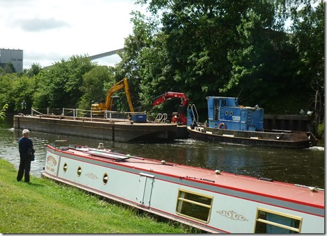 3 massive work boats at anderton mooring
