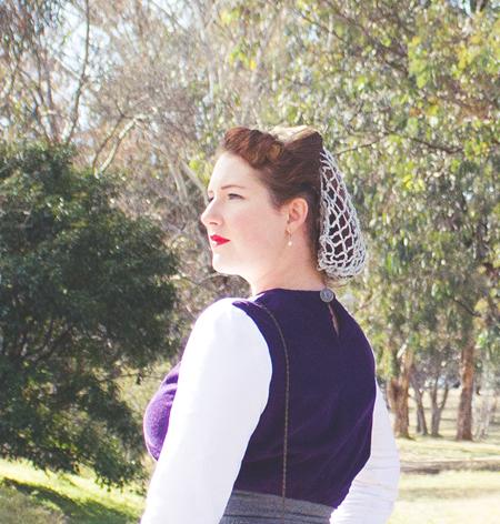 Me made 1940s vintage snood | Lavender & Twill