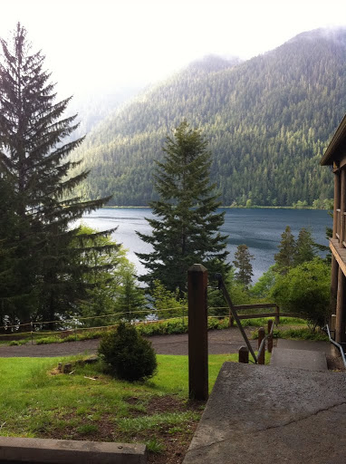 Camp David Jr. overlooks Lake Crescent