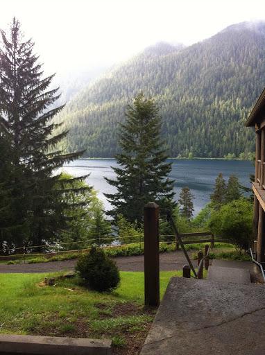 Camp David Jr. overlooks Lake Crescent