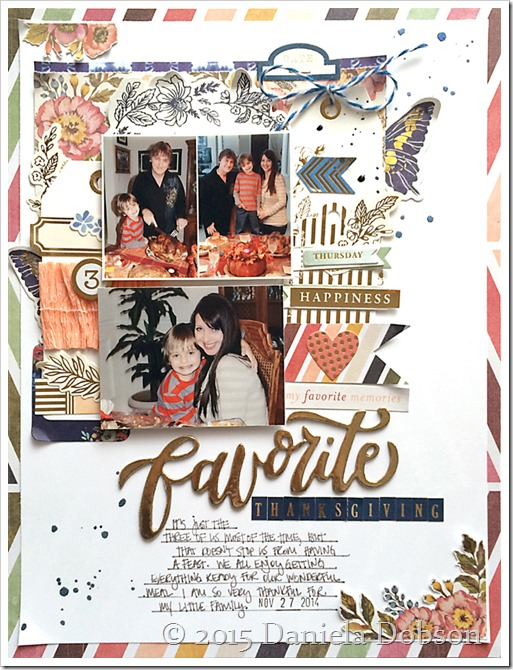 Favorite Thanksgiving layout by Daniela Dobson
