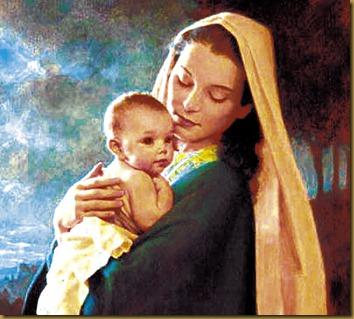 MARIA SANTISIMA CON EL NIÑO JESUS