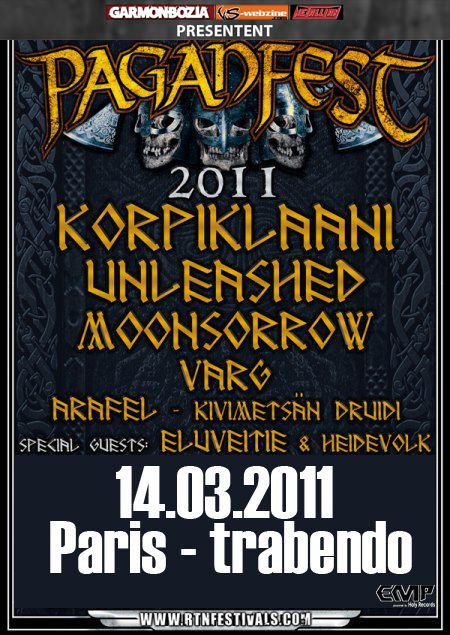 PaganFest 2011 @ Le Trabendo, Paris 14/03/2011