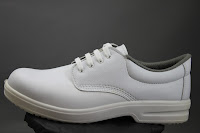 white breathable safety shoe made in Italy to EU standards