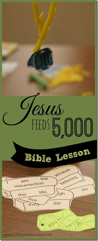 Jesus Feeds 5000 Sunday School Lessons includes super cute and simple-to-make bible Craft and fun Games for kids