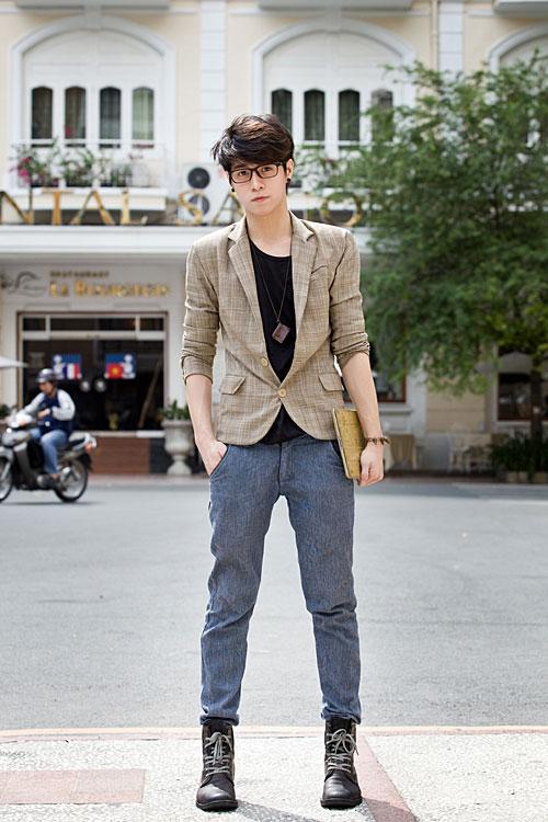 Chon ao vest nam dep de mac cung quan jeans  8