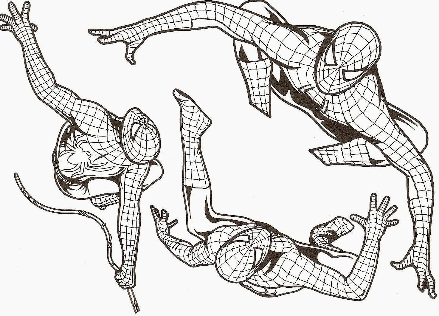 dessin spiderman à colorier gratuit
