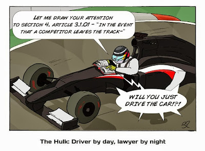 Нико Хюлькенберг на Sauber изучает правила - комикс Stuart Taylor по Гран-при Сингапура 2013
