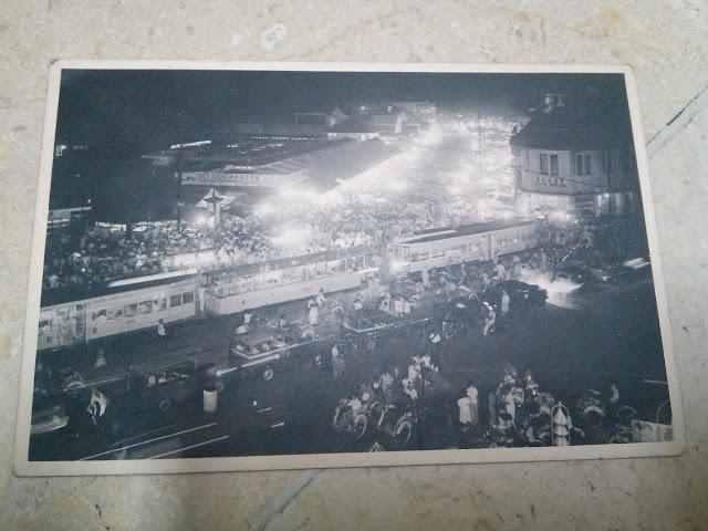 Kartu Pos Lama Foto Pancoran Malam Hari