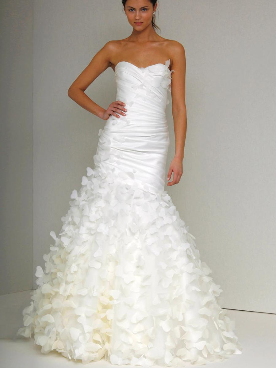 butterfly wedding gown