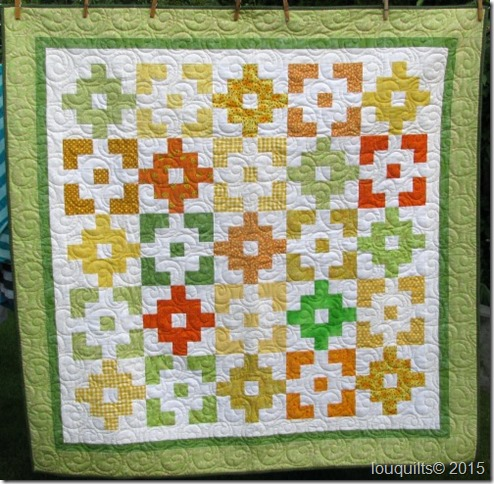 Citrus colours baby quilt