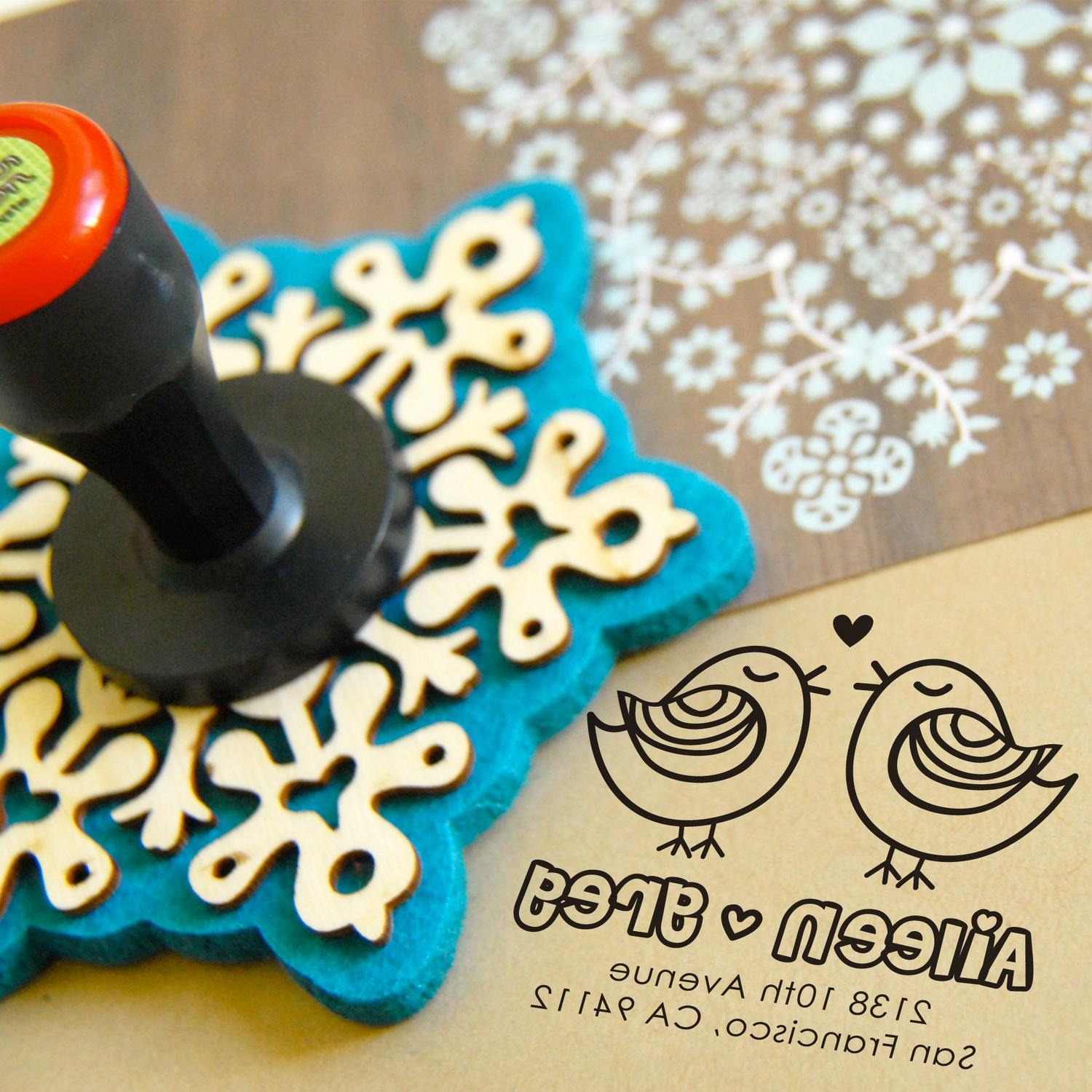Personalized Rubber Stamp.
