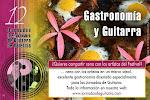 Gastronomía y Guitarra, cena con los artistas.