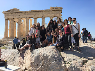 Atop the Parthenon in Athens