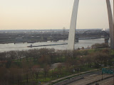 The St Louis Arch from our hotel room window 03202011e