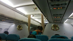 Christmas decorations on Sri Lankan airlines