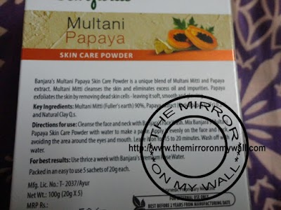 Banjara Multani Papaya Skin Care Powder2.JPG