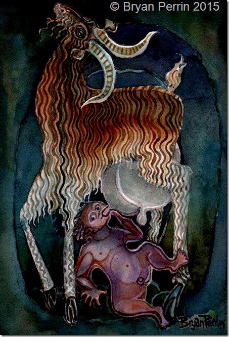 Amalthea nursing Zeus