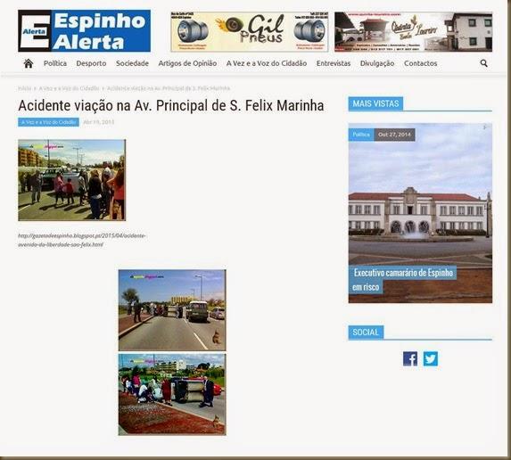 Jornal Espinho Alerta , 19 de Abril de 2015