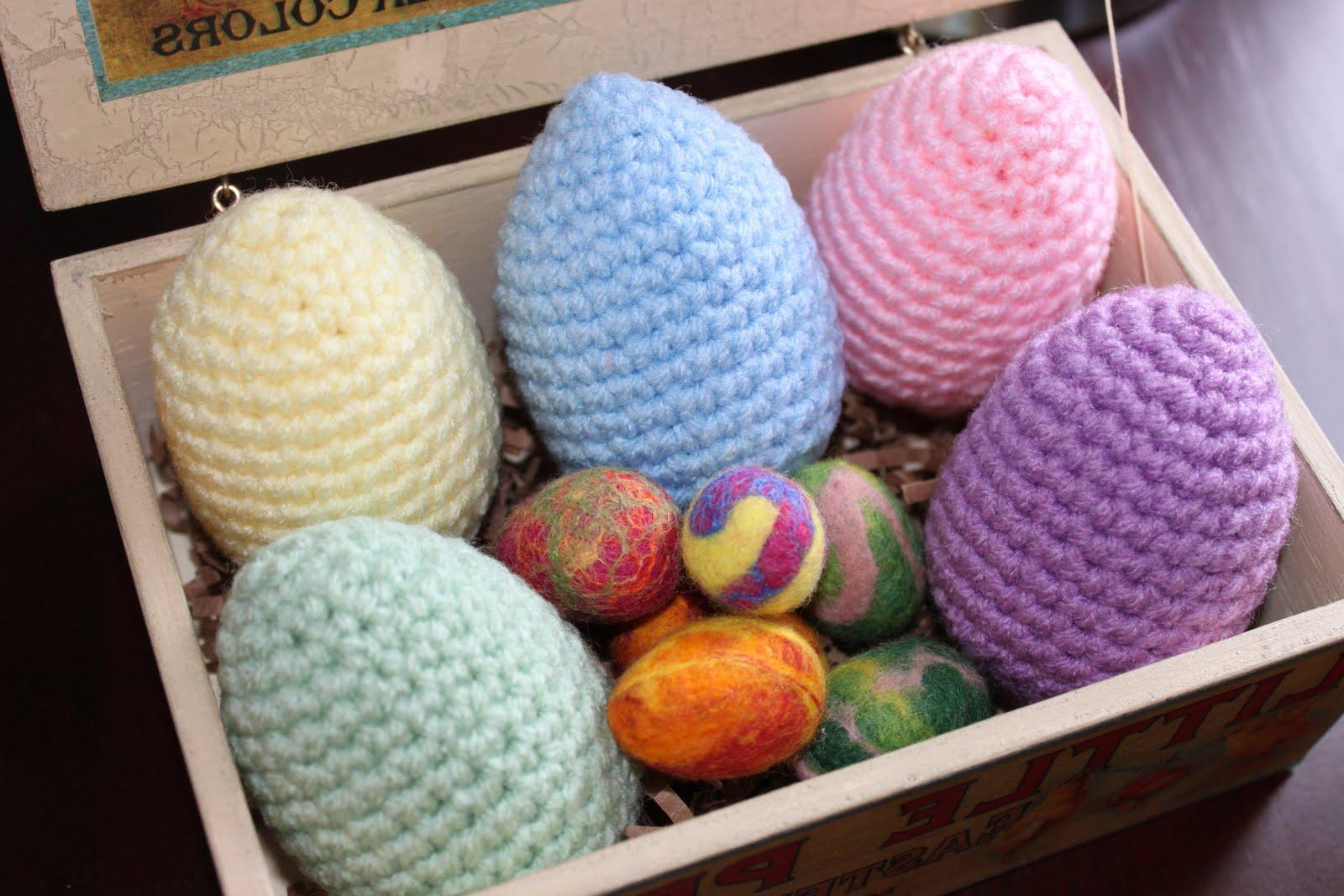 Crocheted and felted easter