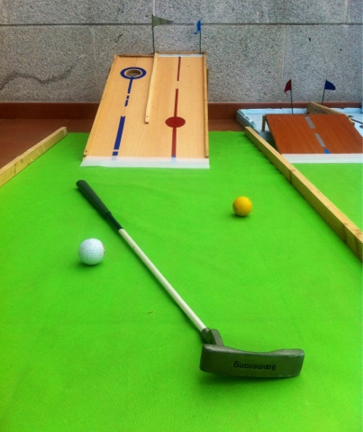 Mini golf for small places. Mini Golf para terraza