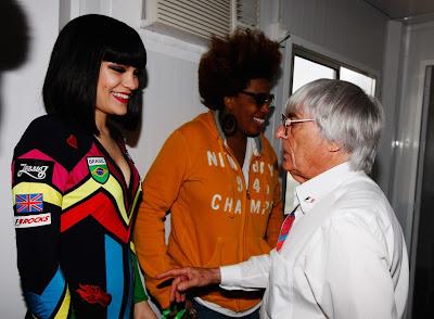 Jessie J и Берни Экклстоун на Гран-при Бразилии 2011
