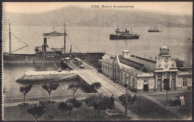 Vapor VILLAGARCIA. Puerto de Vigo. Ca.1915.tif