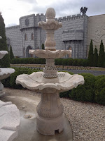 3-Tiered Scalloped Fountain, D54 x H96, Cabo Sands Granite.