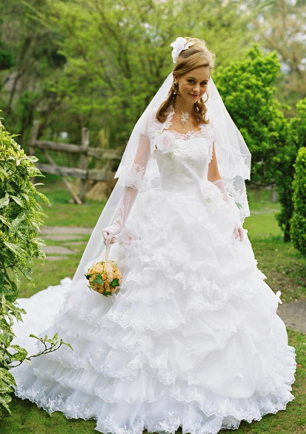 ruffle ball gown wedding