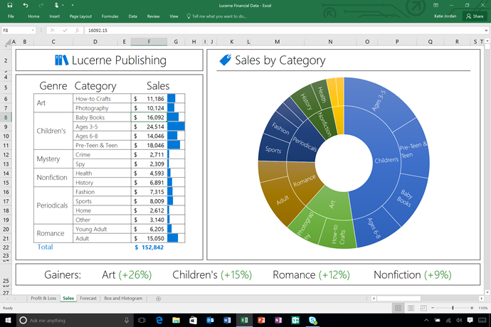 Microsoft Office 2016 - Powerful and easy Excel interface