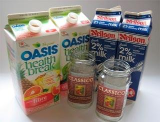 Cách làm bình hoa từ hộp sữa - 197457