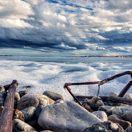 On a razor's edge  by Todd Reynolds - Landscapes Travel