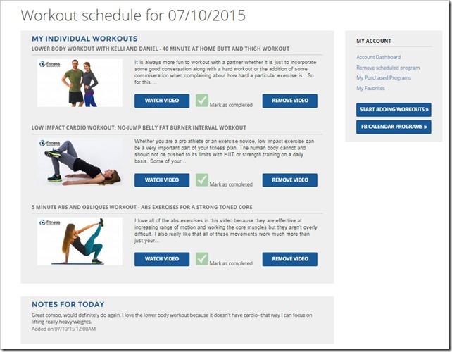fitness blender calendar 2