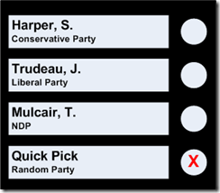 Elections Canada Quick Pick