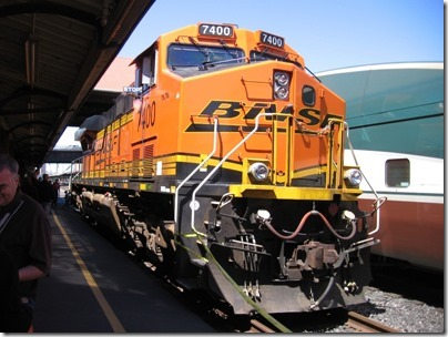 IMG_2803 BNSF ES44DC #7400 at Union Station in Portland, Oregon on May 8, 2010