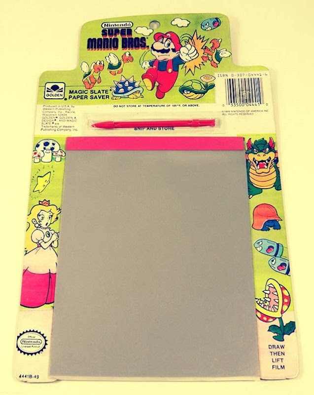Super Mario Bros Magic Slate Paper Super Mario Bros Magic Slate Paper Saver