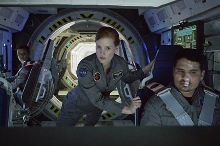 Kate Mara, Jessica Chastain, Michael Pena in The Martian