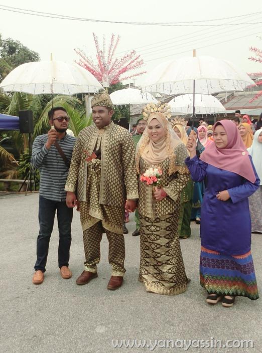 Pelamin Pengantin 3 pasangan di Senawang