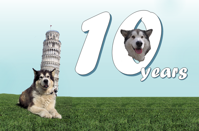 10yrs - with a very silly picture