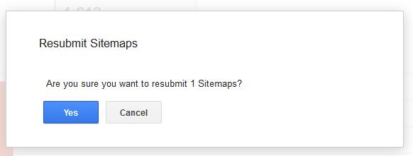 resubmit sitemaps