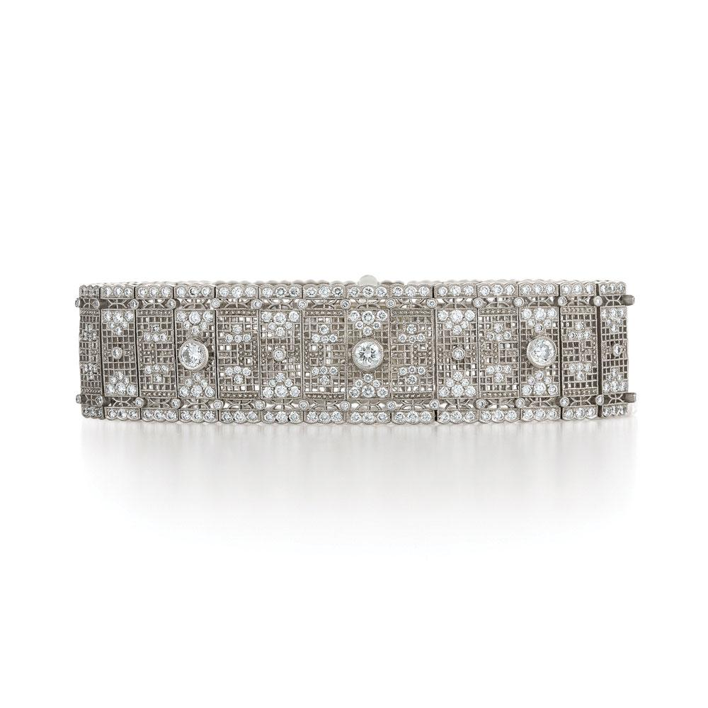 Lace diamond bracelet from the