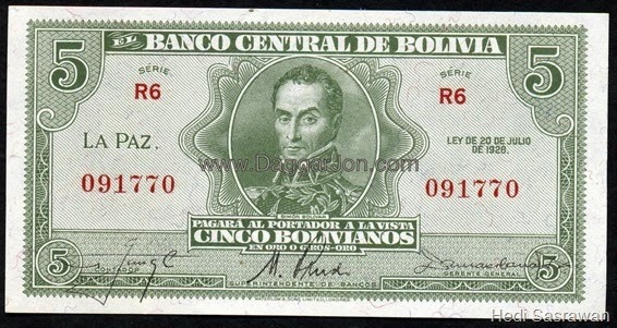 Mata uang Boliviano