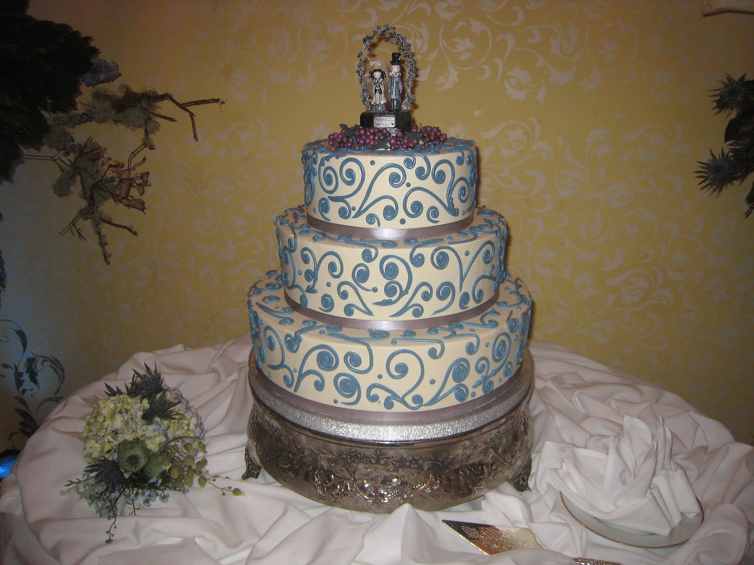 Here is the wedding cake under