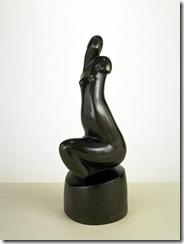 Alexander-Porfiryevich-Archipenko-Seated-Female-Nude-Black-Torso-