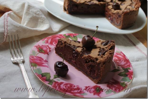 torta al cioccolato e ciliegie 005