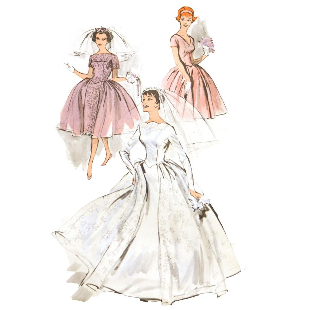 1950s Wedding Dress Pattern